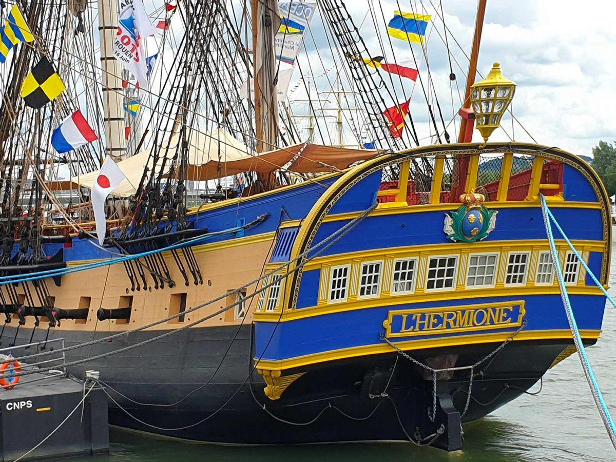 Gros plan sur l'Hermione à l'Armada de Rouen