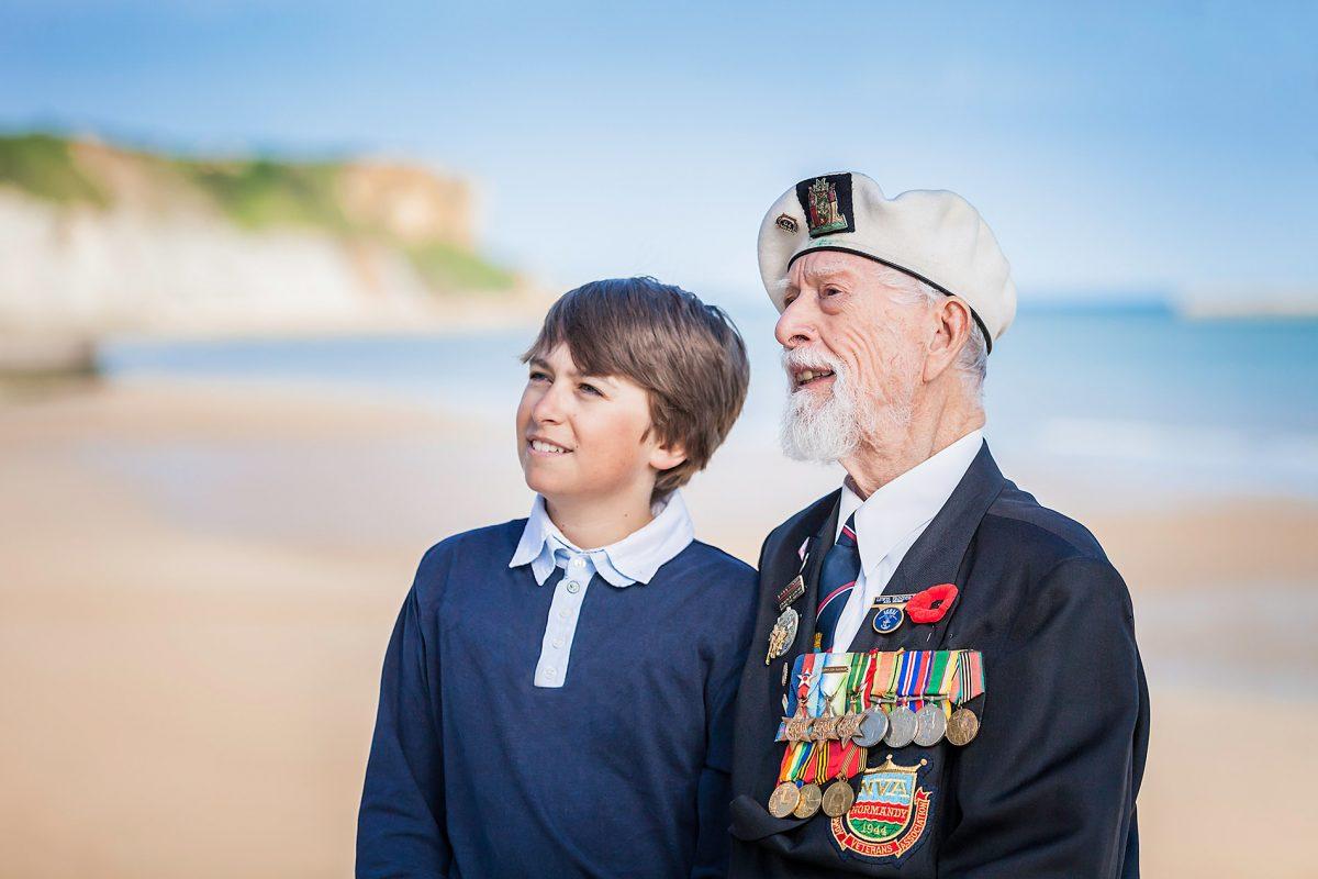 Rencontre avec un vétéran à Arromanches - D-Day