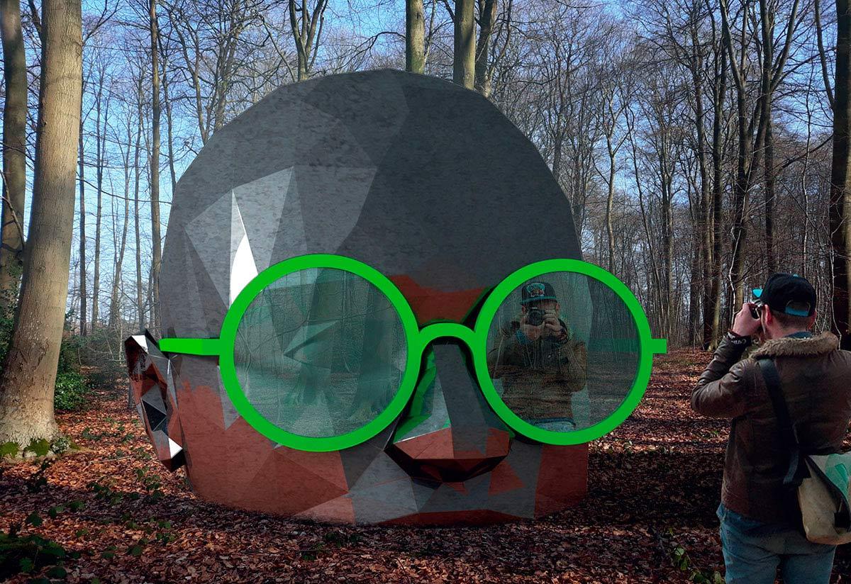 Expo de land art en forêt de Rouen, oeuvre monumentale