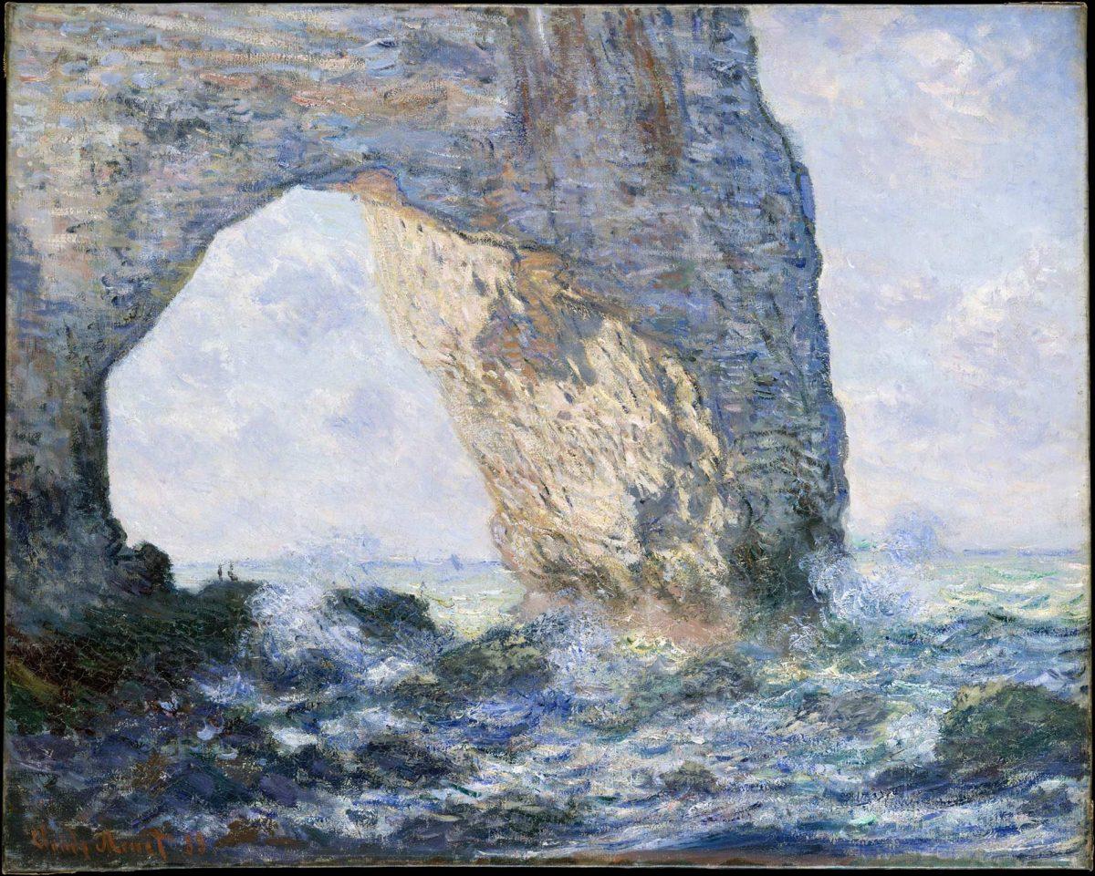 La manneporte d'Etretat par Claude Monet - impressionnime