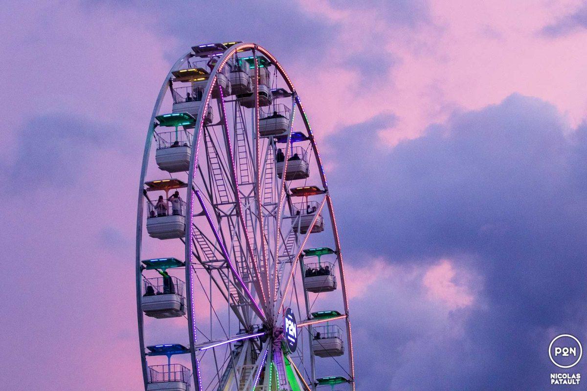 Grande roue au Festival Papillons de nuit