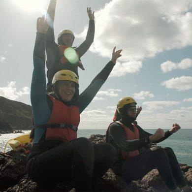 Coasteering dans le Cotentin