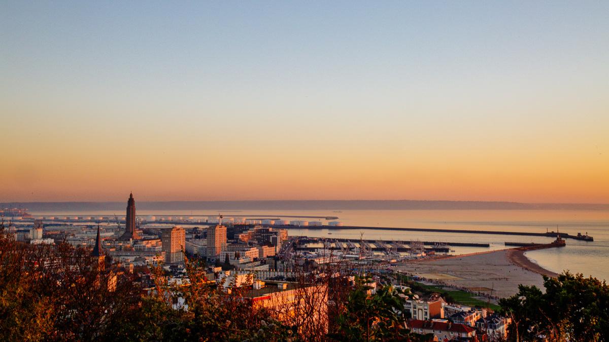Coucher de soleil sur Le Havre