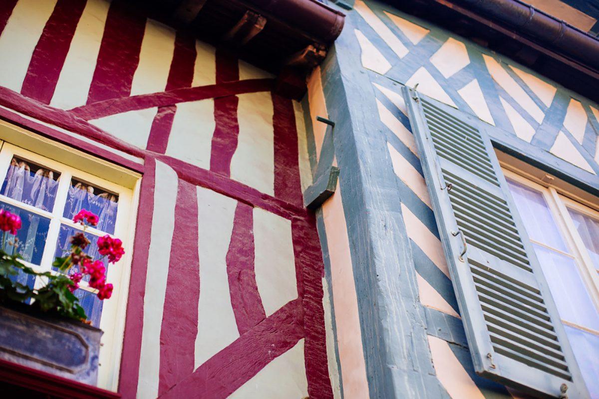 maisons à pans de bois dans Honfleur
