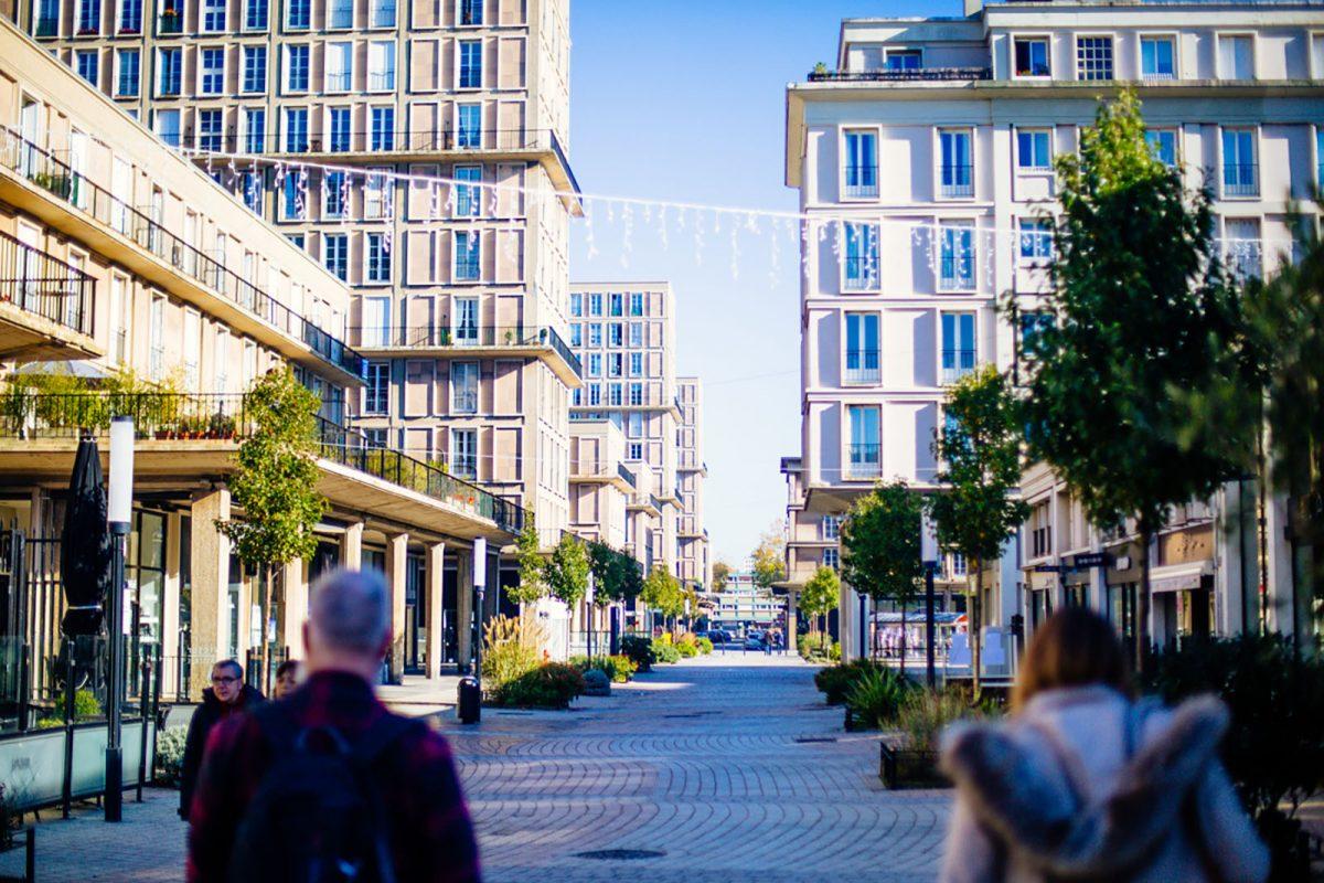 Rue piétonne au Havre