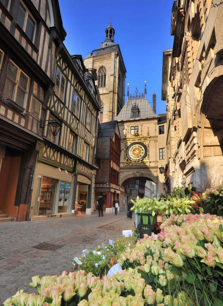 Rue du Gros-Horloge à Rouen