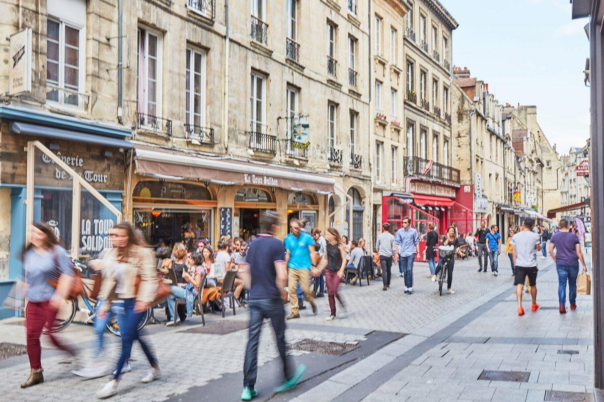 Rue écuyère dans le centre-ville de Caen