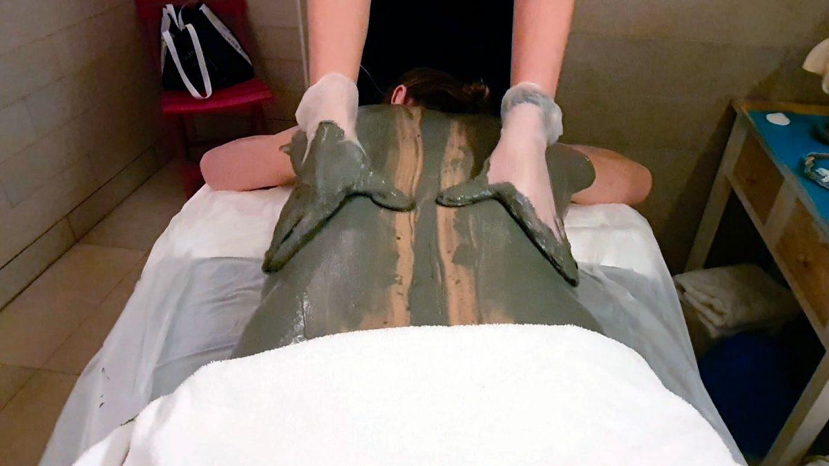 Massage à la tangue au centre de thalasso Prévithal de Granville