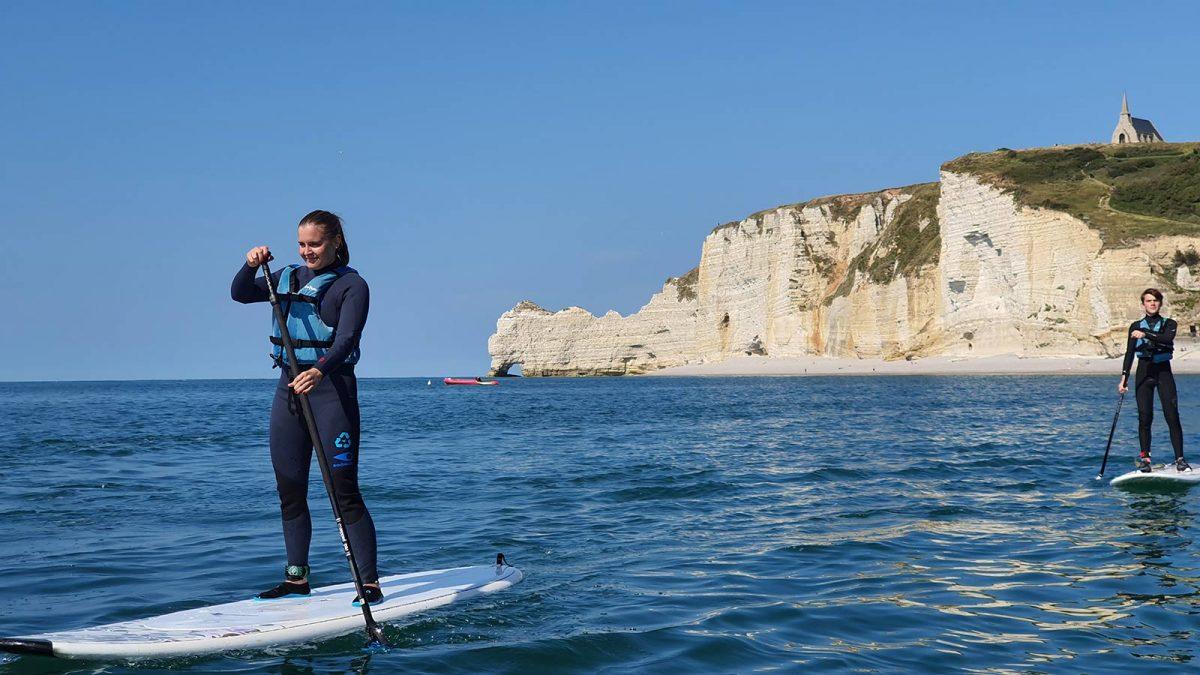 balade en paddle à Etretat
