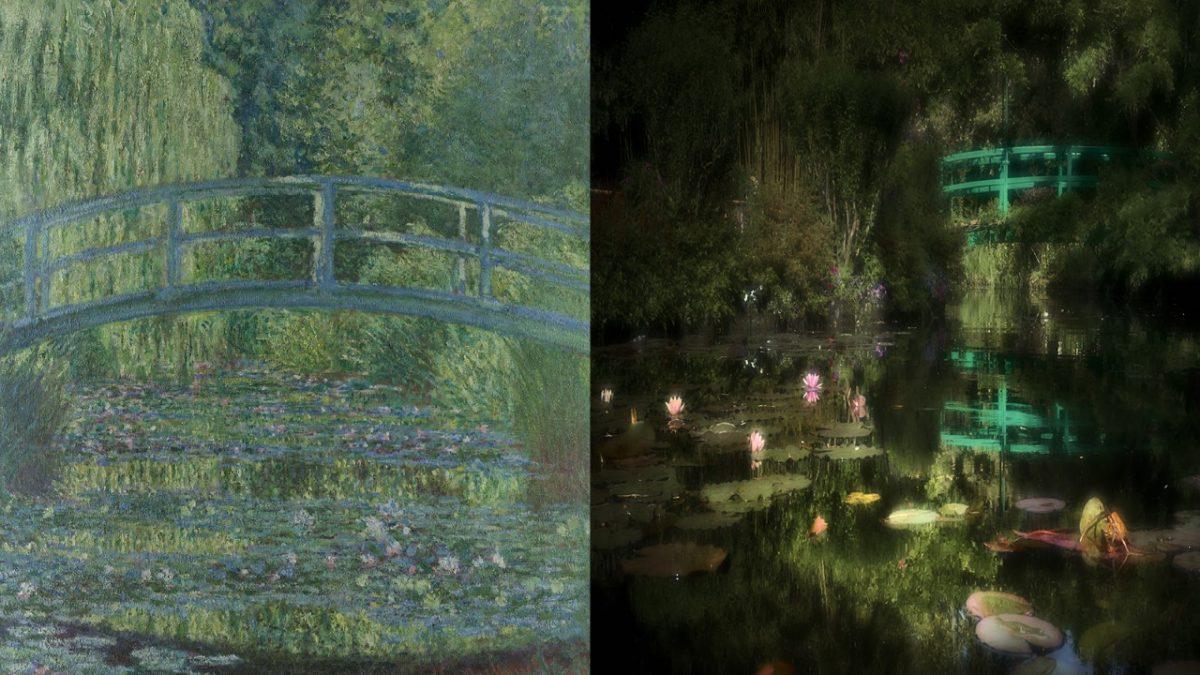 Diptyque Bassin aux nympheas harmonie verte et instant de bonheur Giverny Normandie