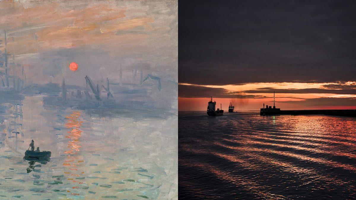 Diptyque Impression Soleil Levant, 1872, Musée Marmottant Monet et instant de bonheur Le Havre Normandie