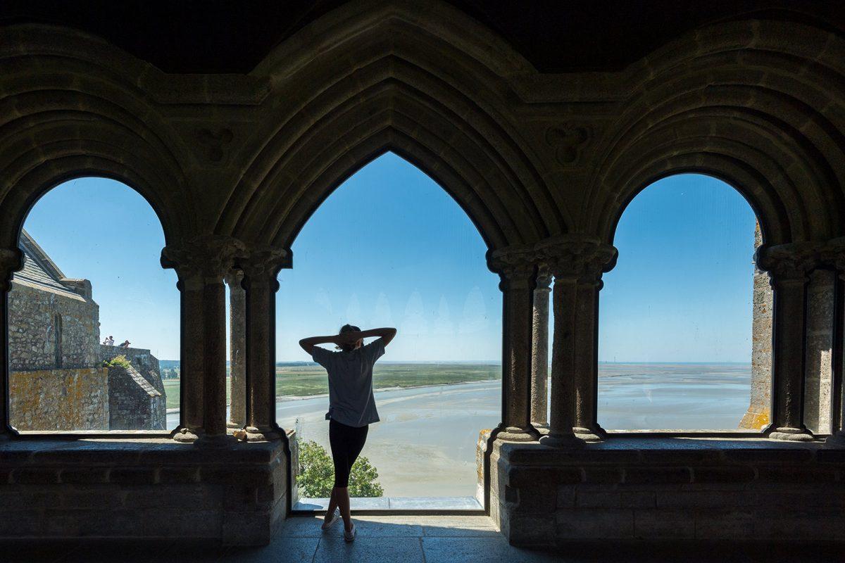 Vue sur la baie depuis l'abbaye du Mont-Saint-Michel