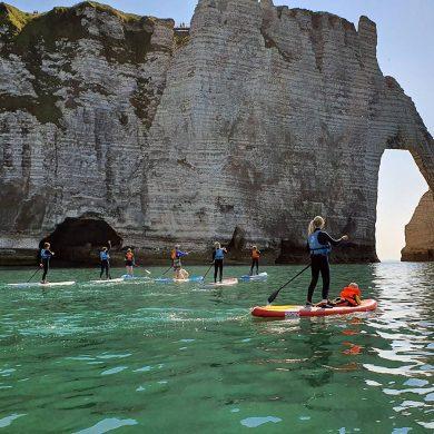 Découverte des arches d'Etretat en paddle