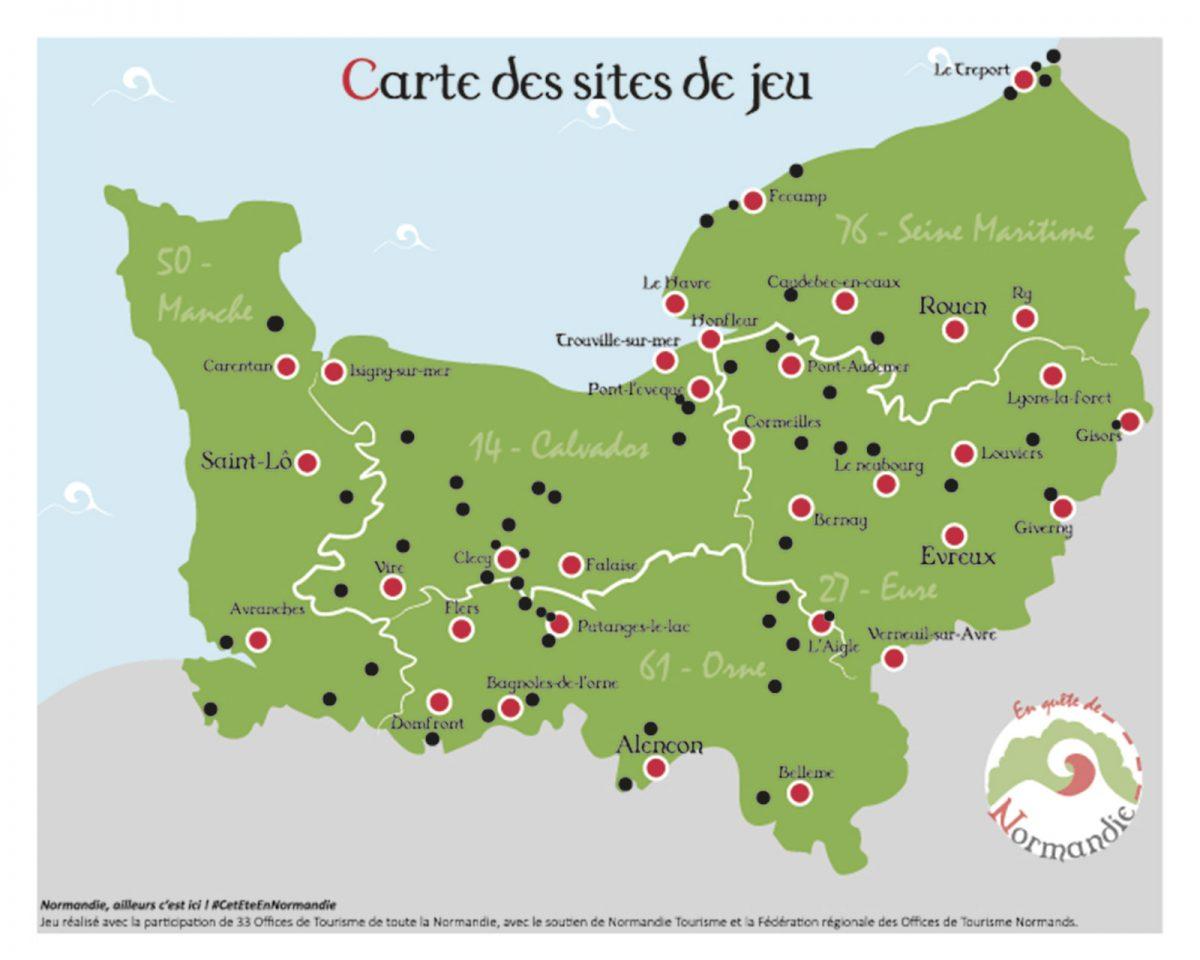 carte jeu en quête de Normandie