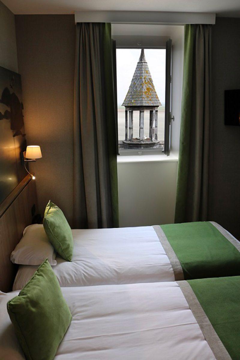Hôtel Le Mouton blanc avec vue sur la baie du Mont-Saint-Michel
