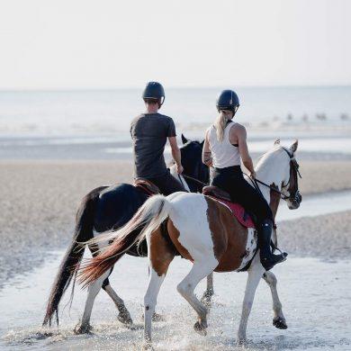 Escapade romantique à cheval à Cabourg