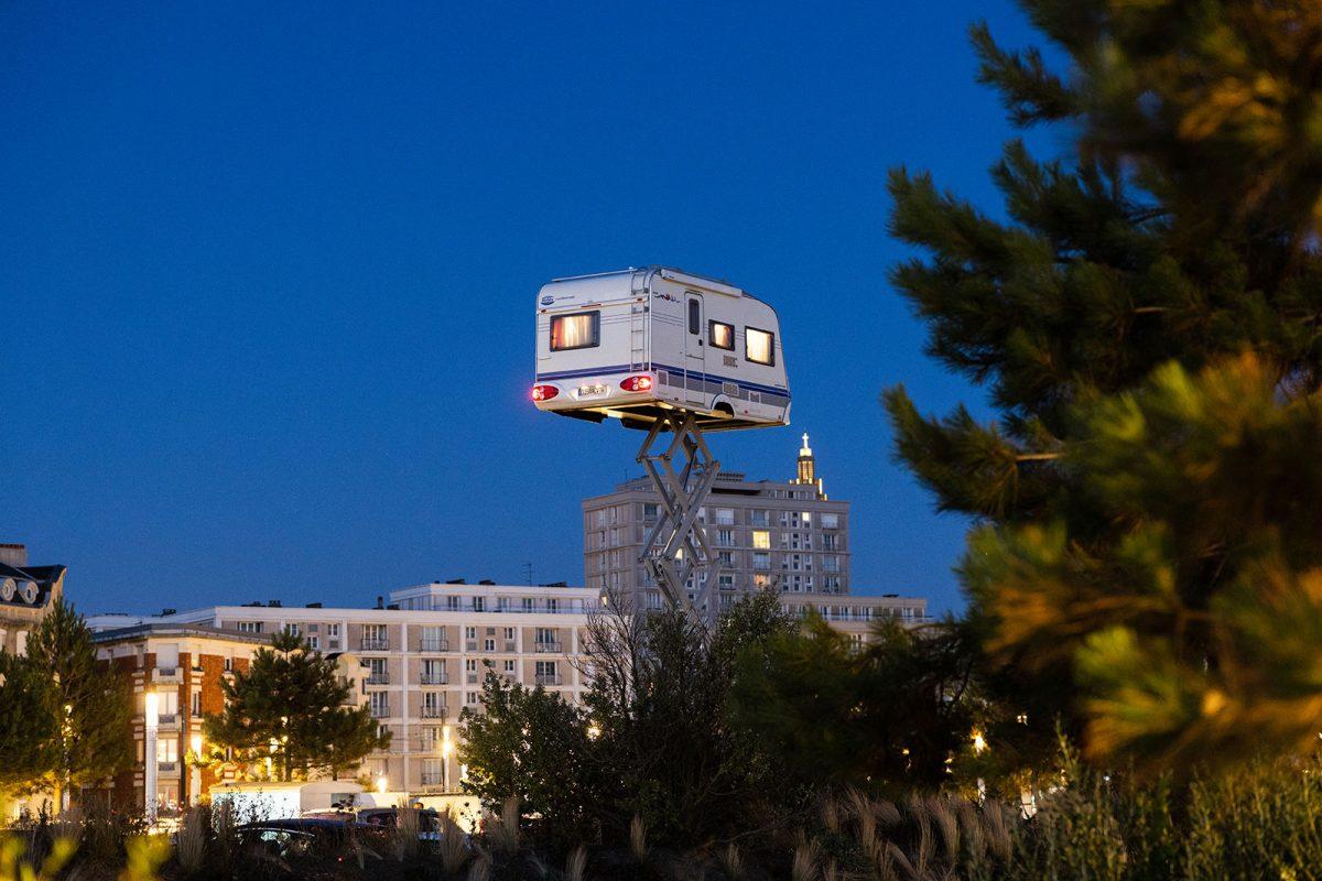 Un Eté au Havre 2020, Benedetto Bufalino, La caravane dans le ciel 2020 Jacques Basile Un Eté au Havre