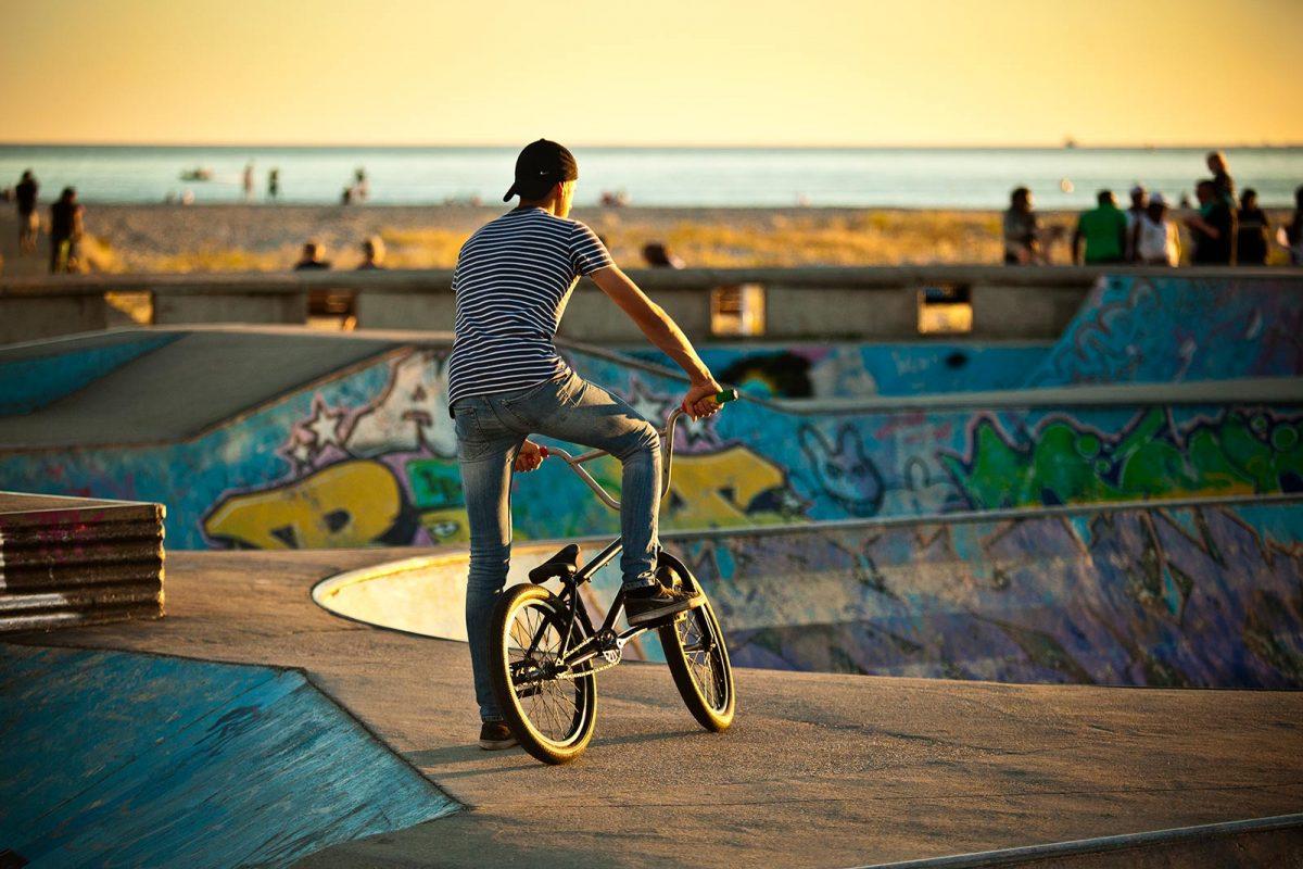 Skatepark à la plage du Havre