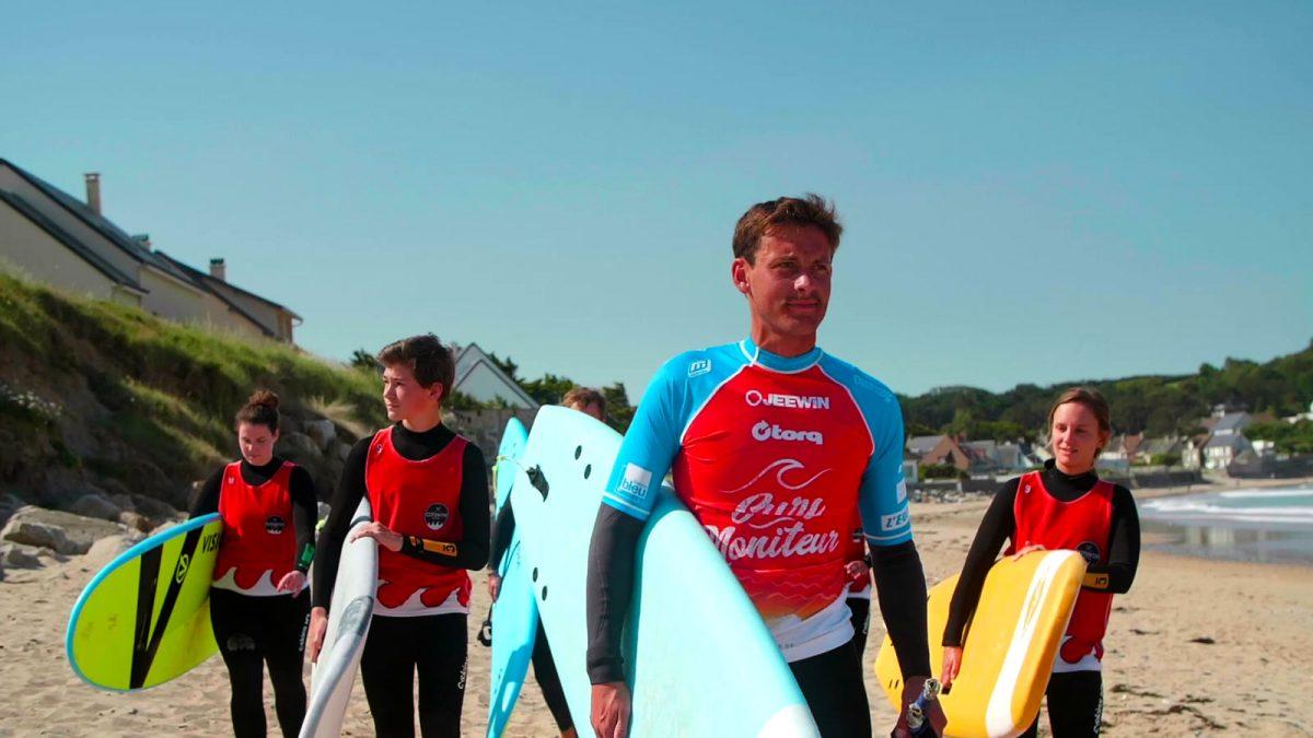 expérience Surf à Siouville le groupe
