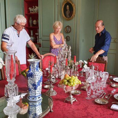 Les arts de la table avec Inaki au Château de Chantore