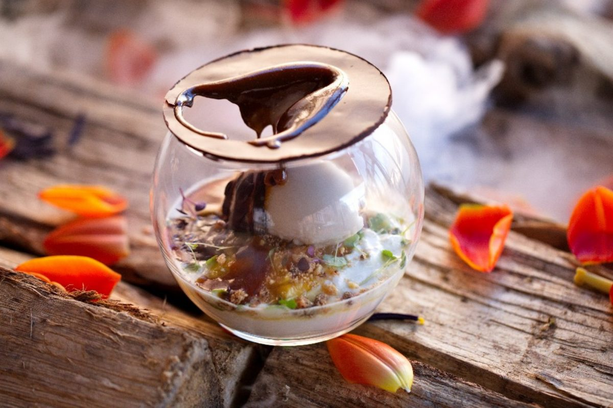 Dessert réalisé par le restaurant le Cancan