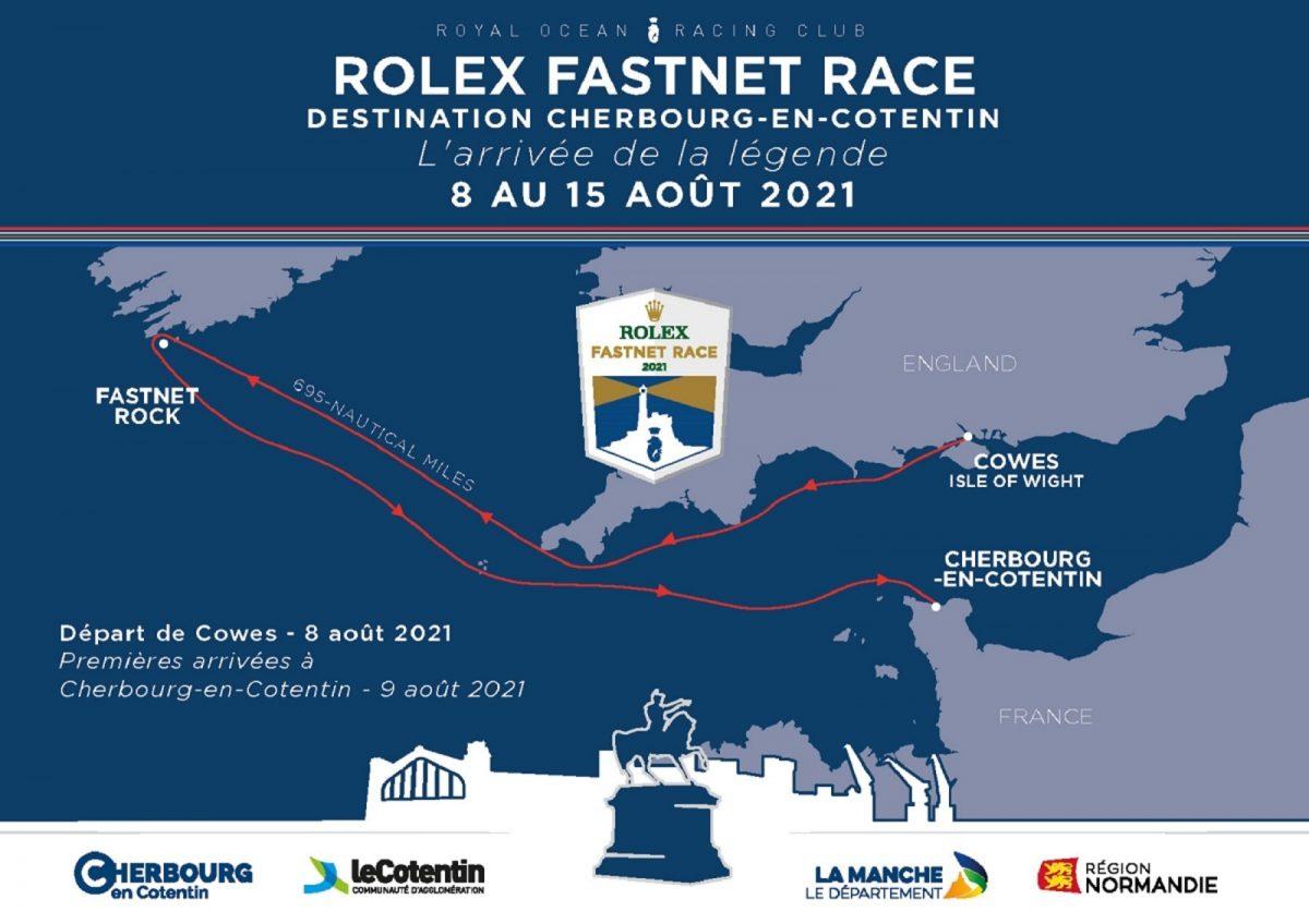 Parcours de la Rolex Fastnet Race 2021