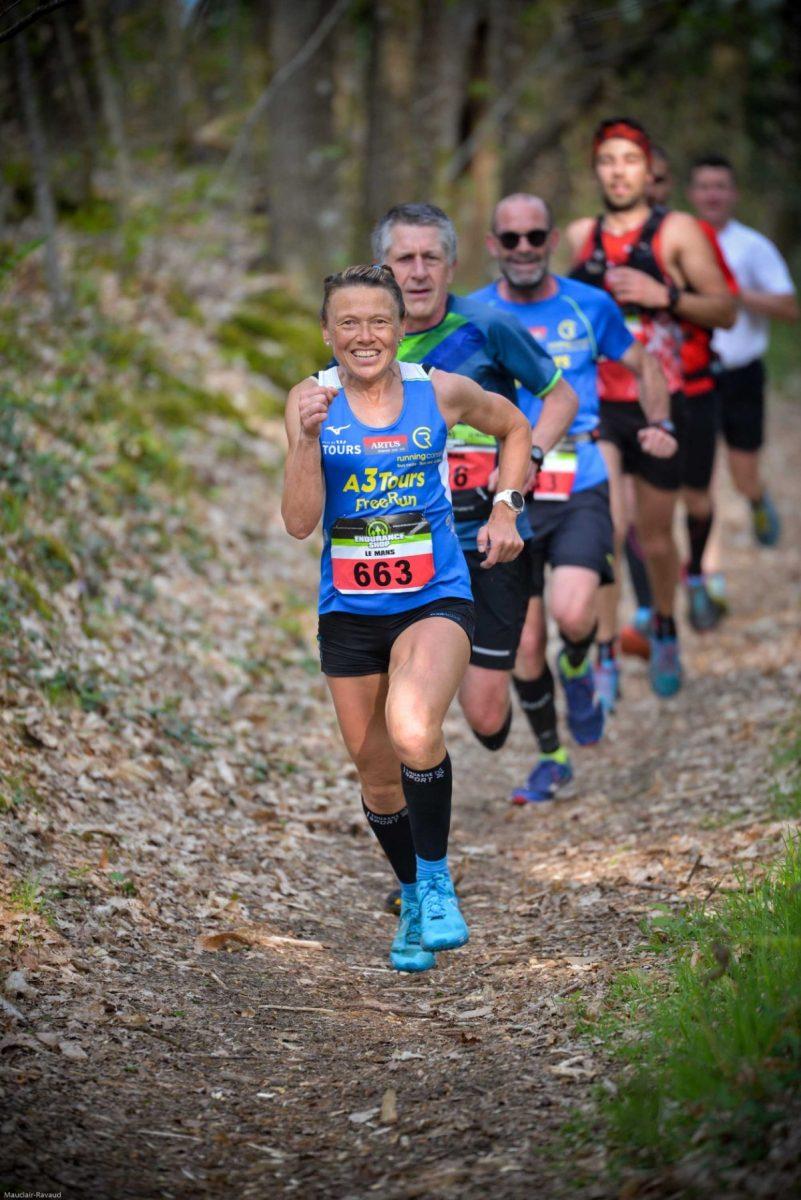 Course de trail avec Nathalie Mauclair
