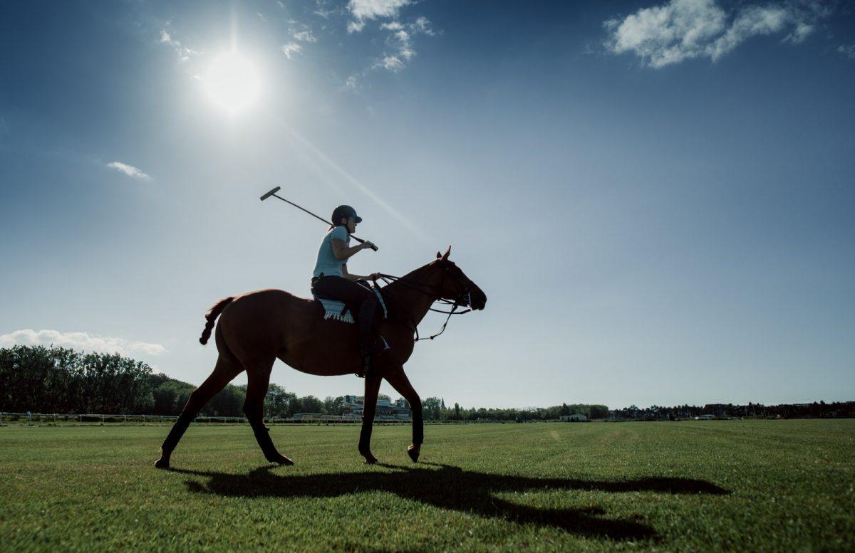 Cours de polo à Deauville