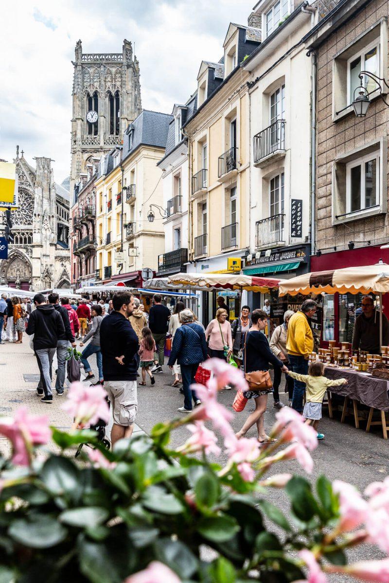 Marché Rue de Dieppe