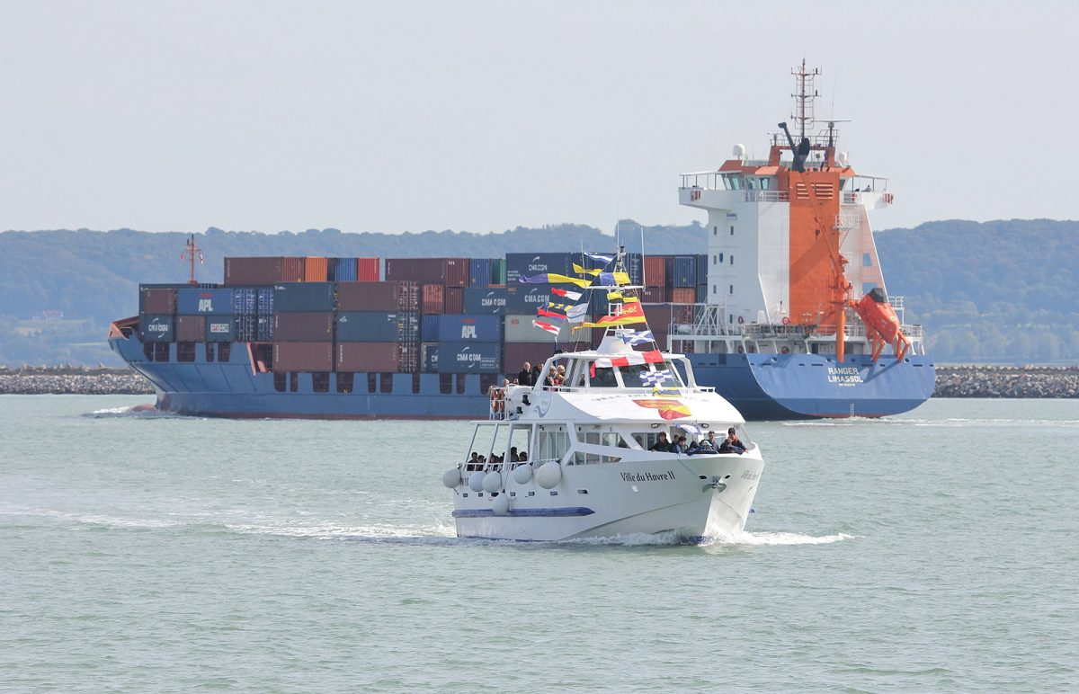 Bateau promenade en mer dans le Port, Ville du Havre II