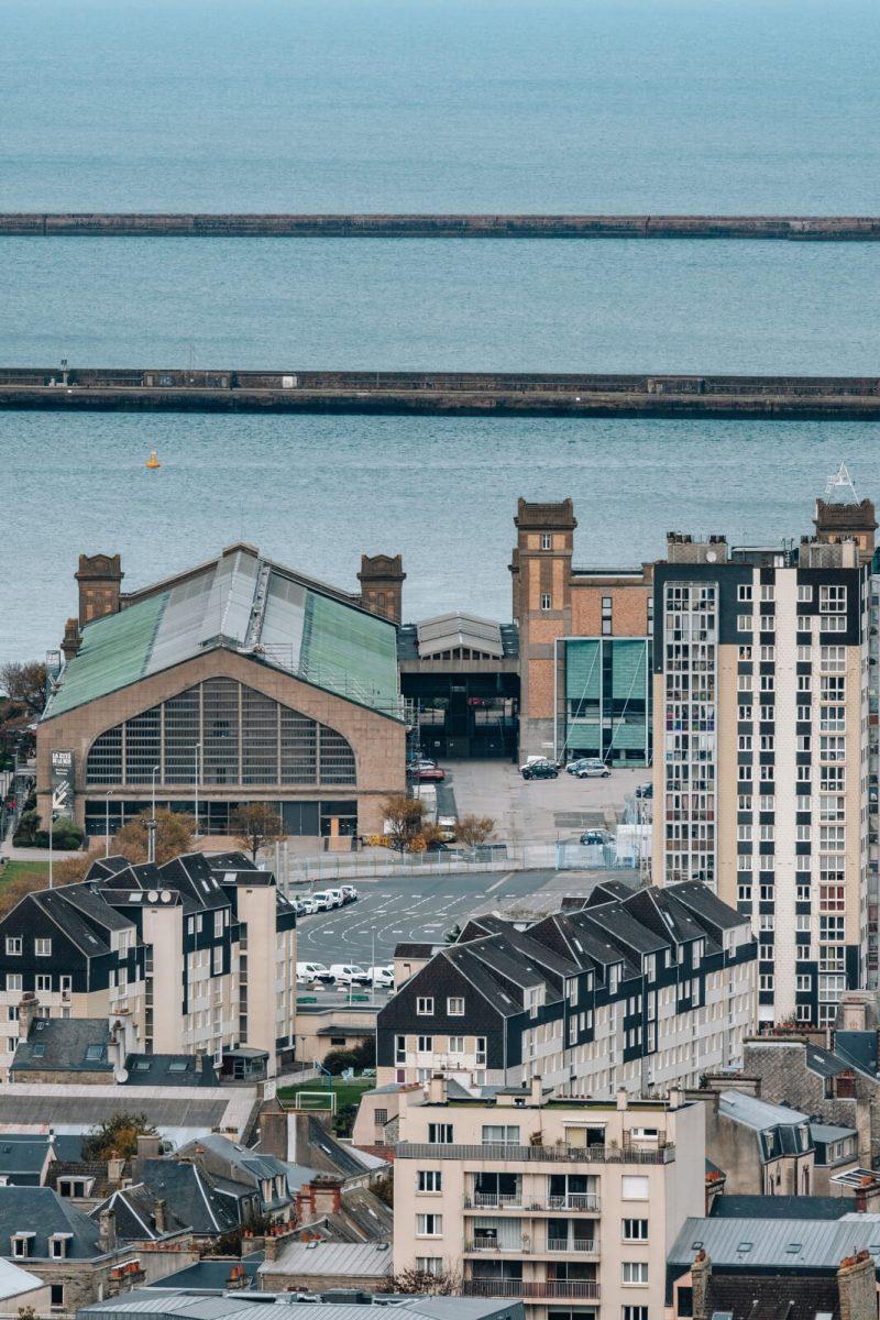 Vue sur Cherbourg
