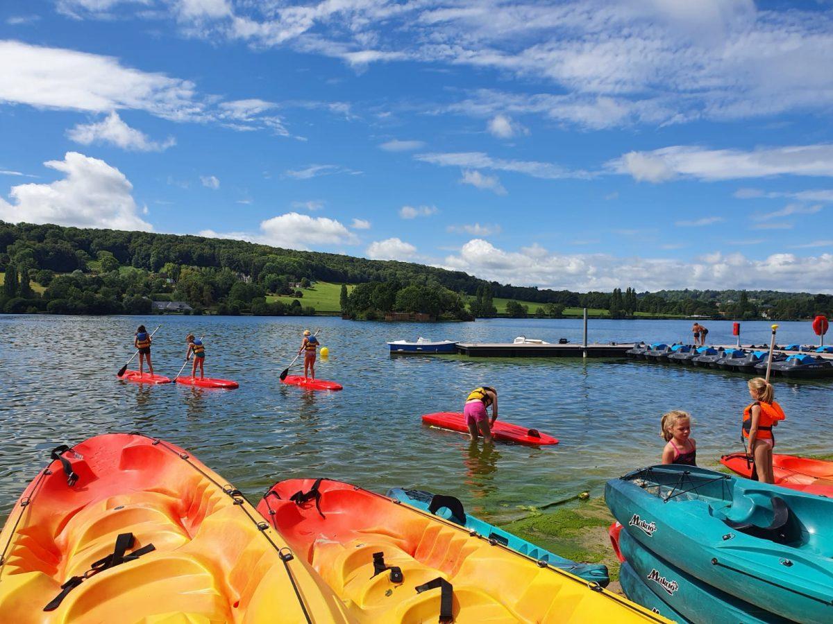 Paddle sur le lac de Pont l'Evêque