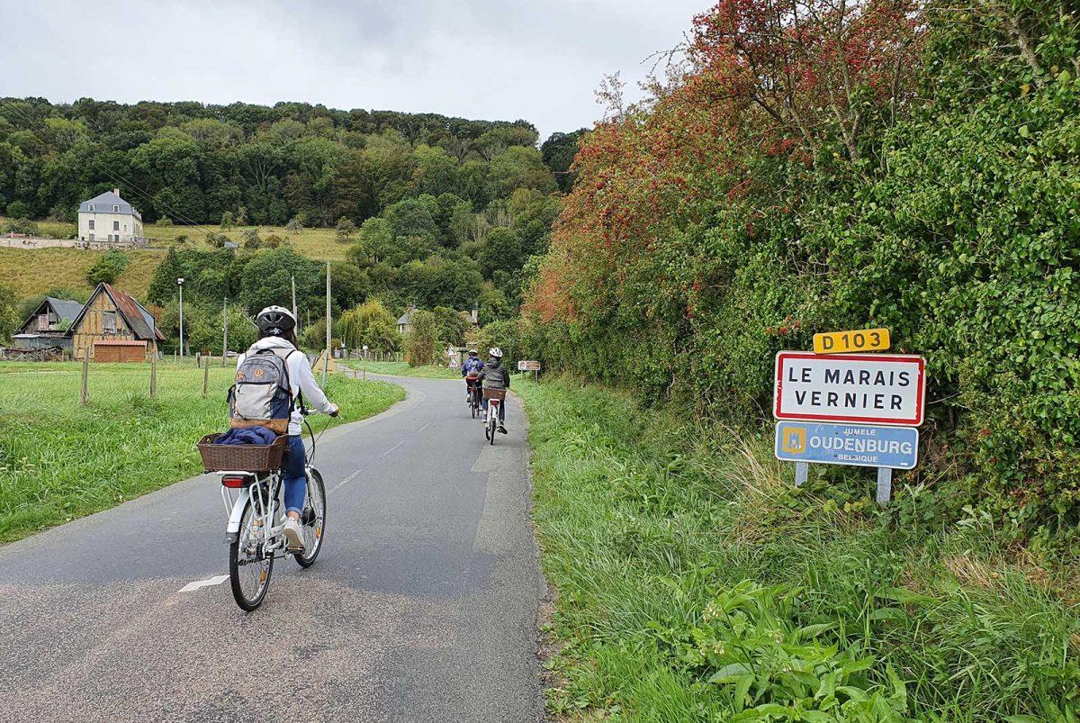 Le Marais-Vernier à vélo