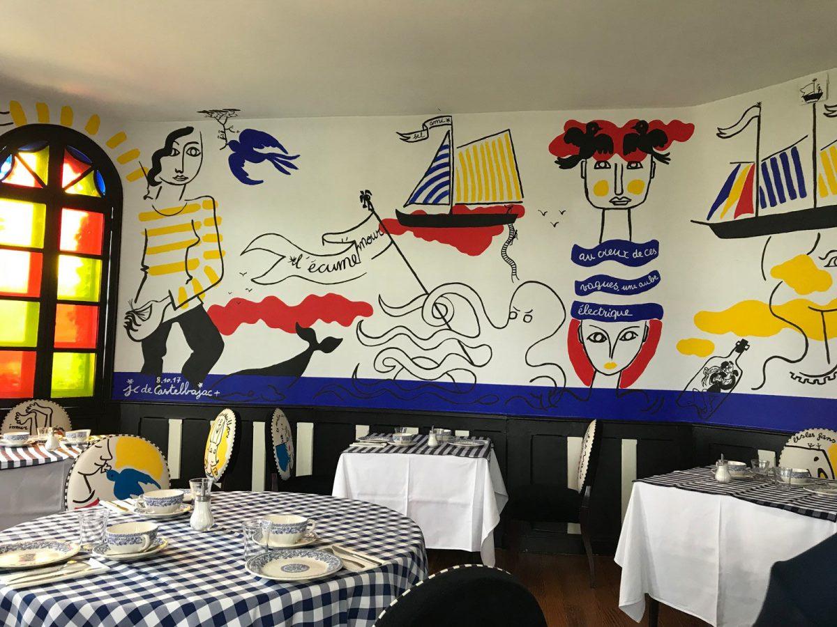 Restaurant de l'hôtel le Donjon à Etretat