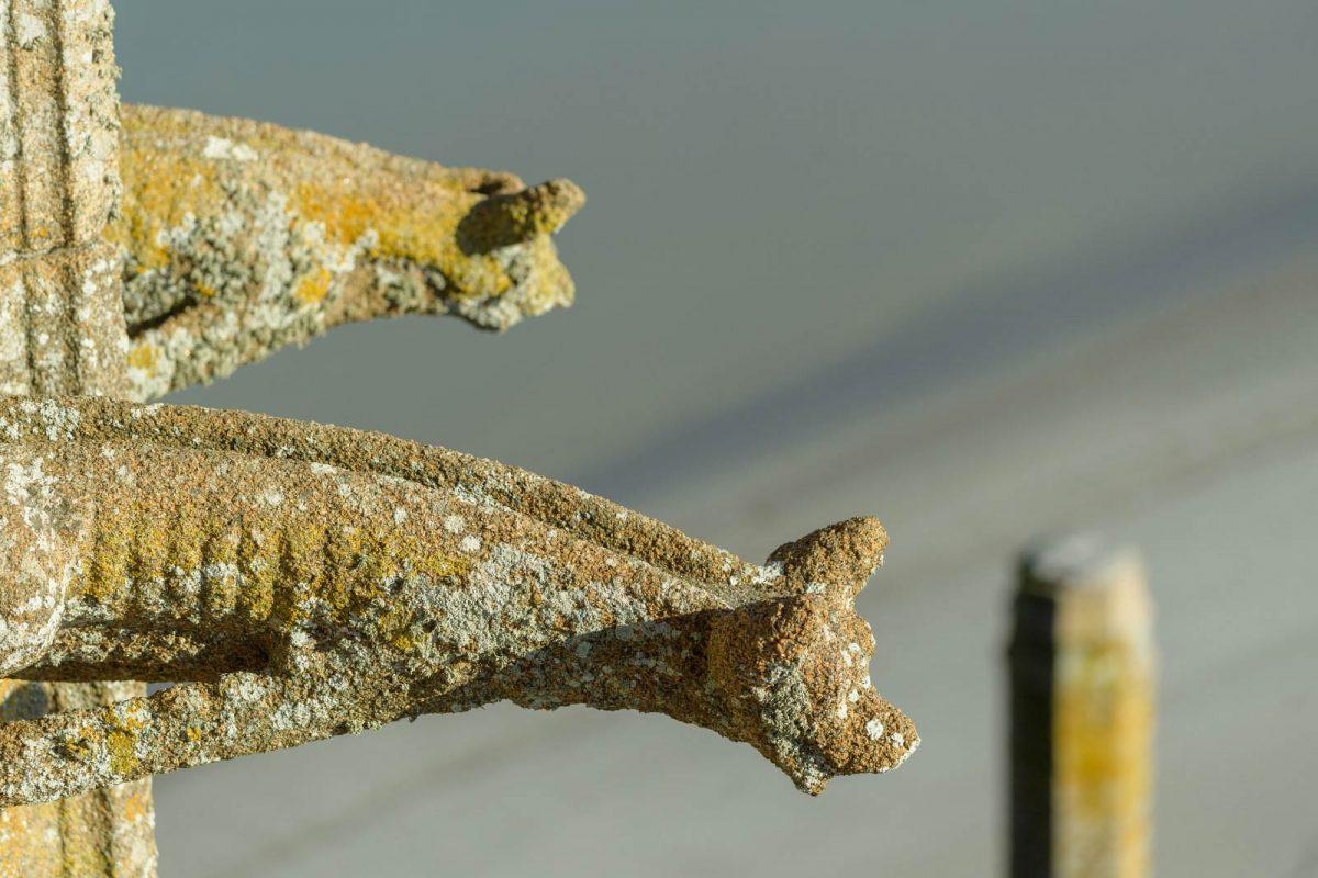 Gargouilles à l'abbaye du Mont-Saint-Michel