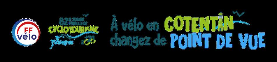 Logos Semaine fédérale de clycotourisme 2021 à Valognes