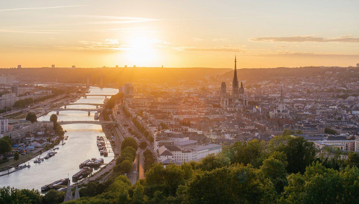Vue sur Rouen