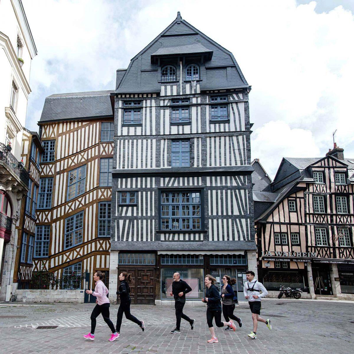 Maisons à pans de bois à Rouen