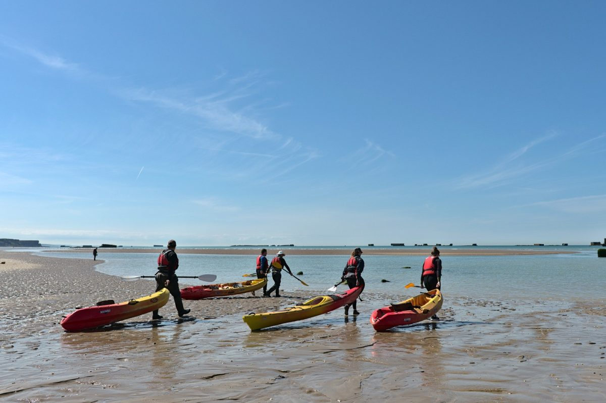 Kayak à Arromanches - Asnelles