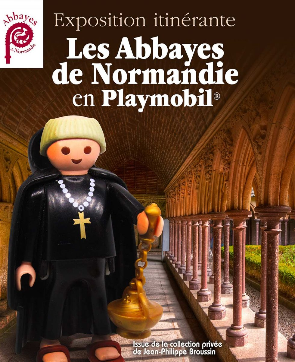Affiche Abbayes de Normandie, expo Playmobil 2021