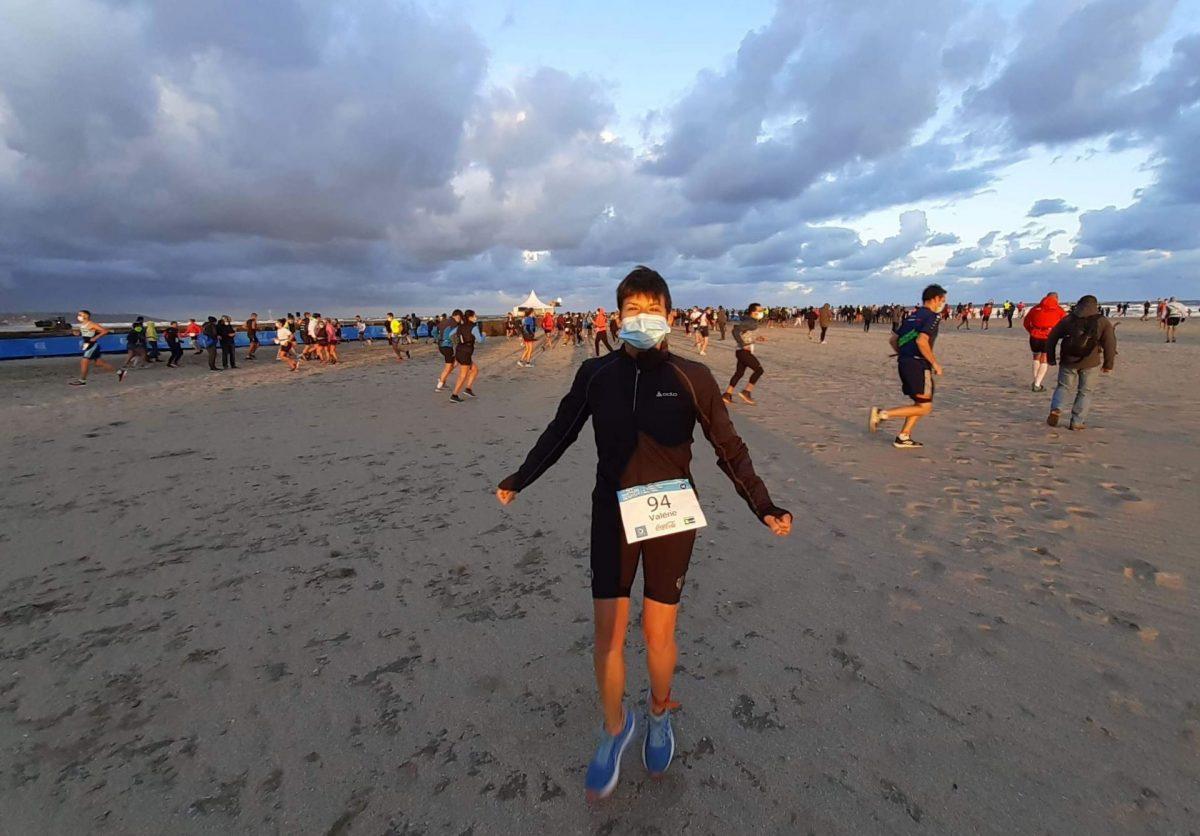 Triathlon de Deauville, sur la plage