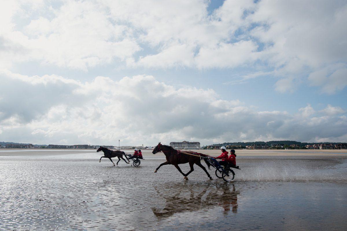 Sulky Expérience sur la plage de Deauville