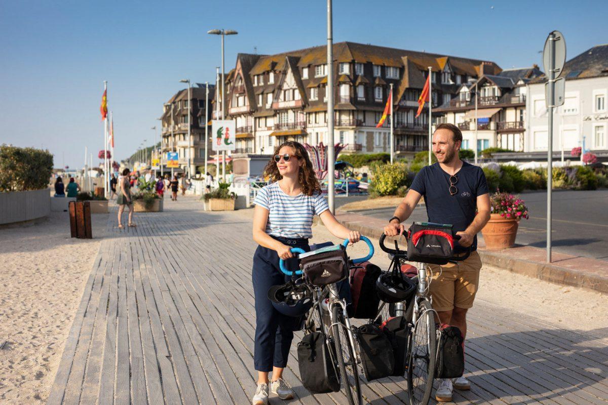 En vélo à Trouville sur Mer