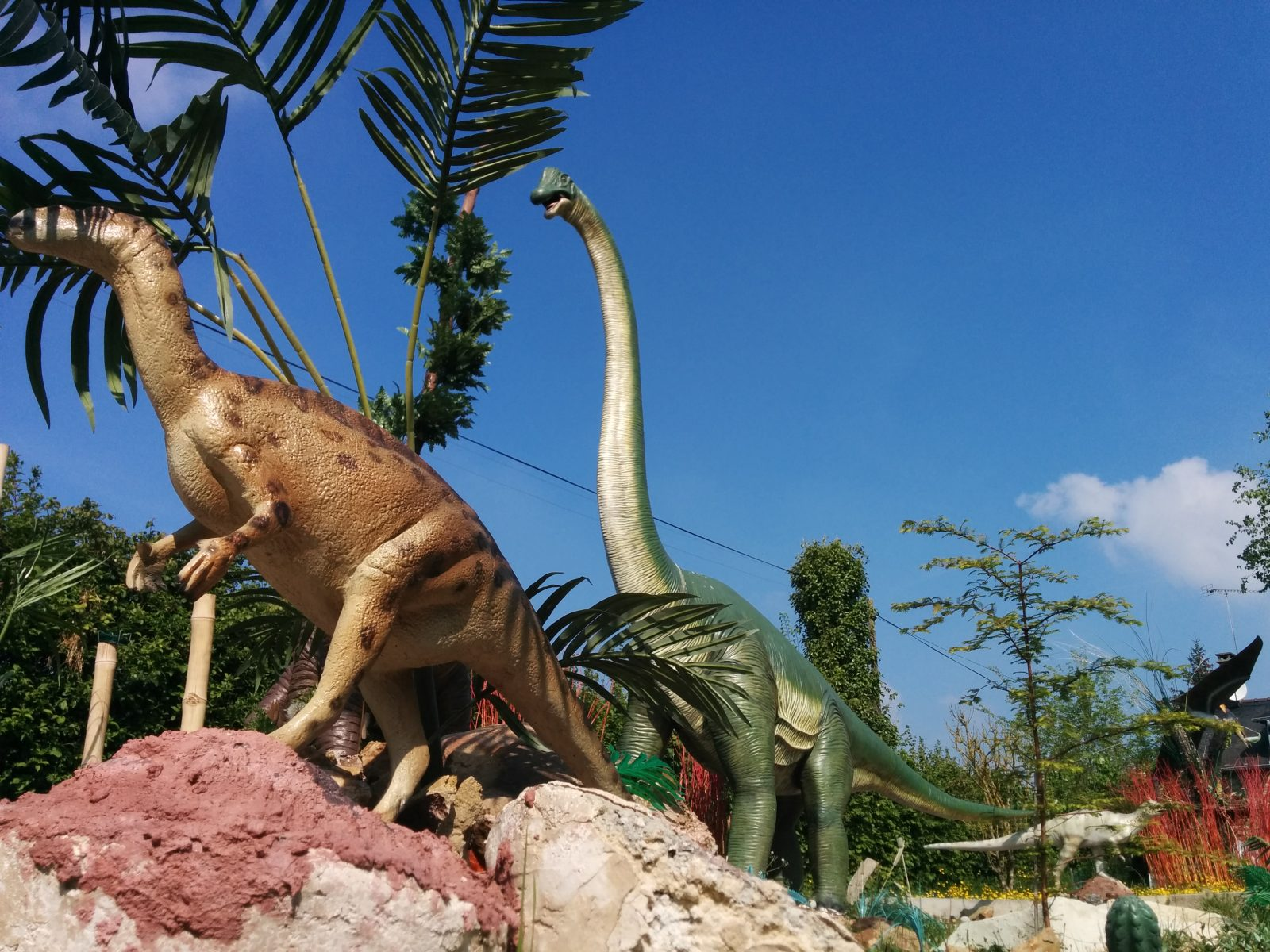 Des dinosaures dans le jardin !