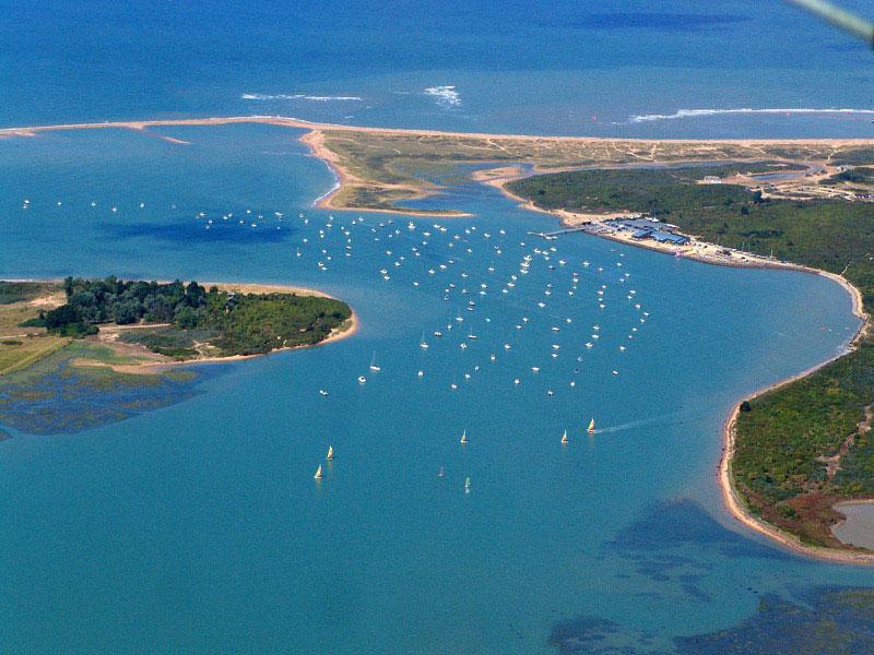 Vue aérienne de la Baie de Sallenelles